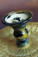 aljamal Al'Ardia Bowl Golden Black unglaced